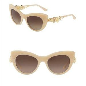 59f144f6d5fe Dolce & Gabbana Accessories - Dolce & Gabbana Flowers Lace Cat Eye  Sunglasses